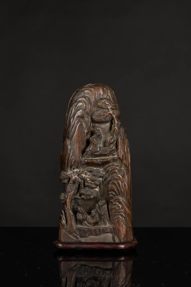 19th Antique Agarwood Carved Statue - 3