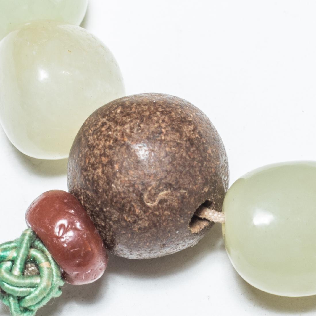 19th Antique Jade Prayer Beads With Gilt Brass Box - 4