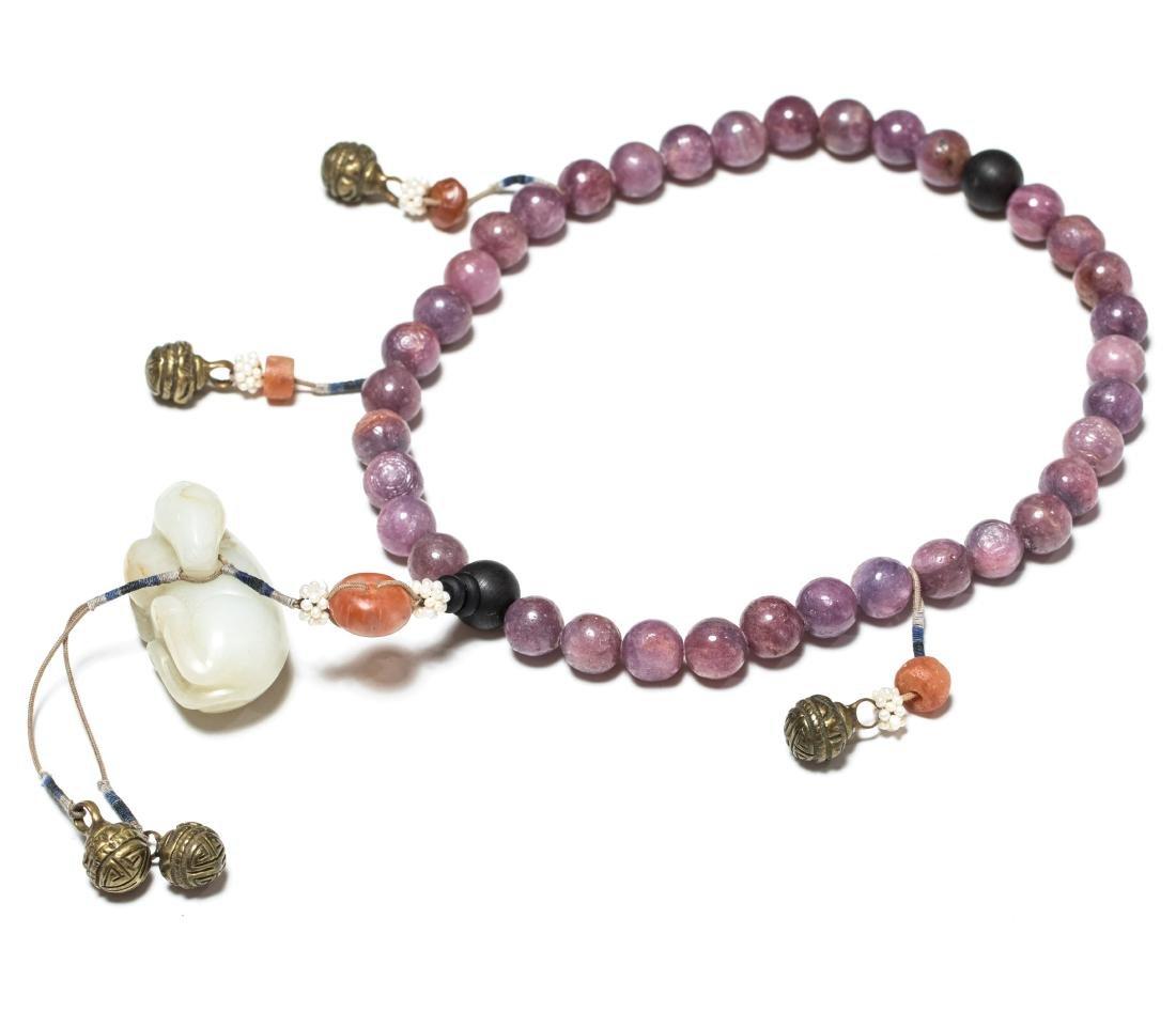 19th Antique Ruby Prayer Beads