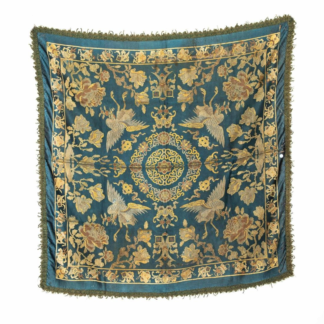 18-19th Antique Silk Embroidery