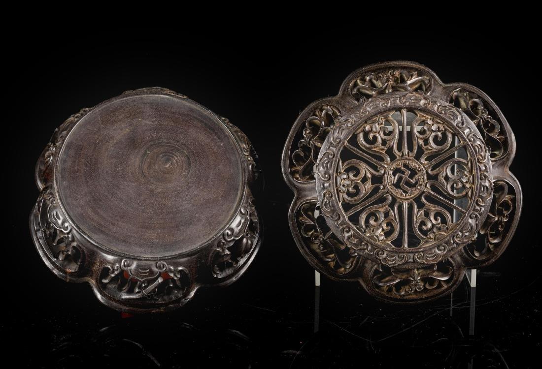 Late 19th Antique Zitan Censer - 2