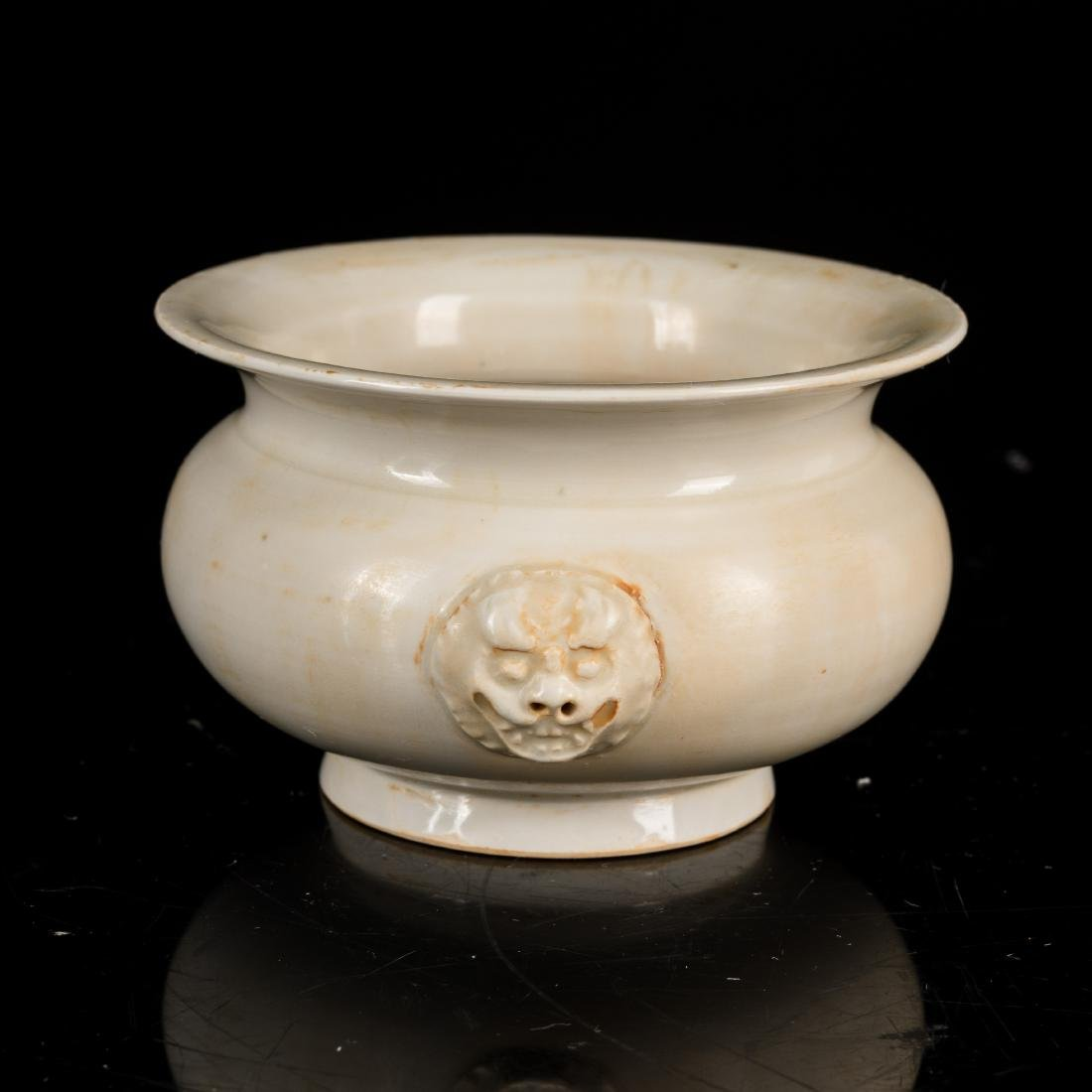 Late 19th Chinese Antique Dehua Censer - 2