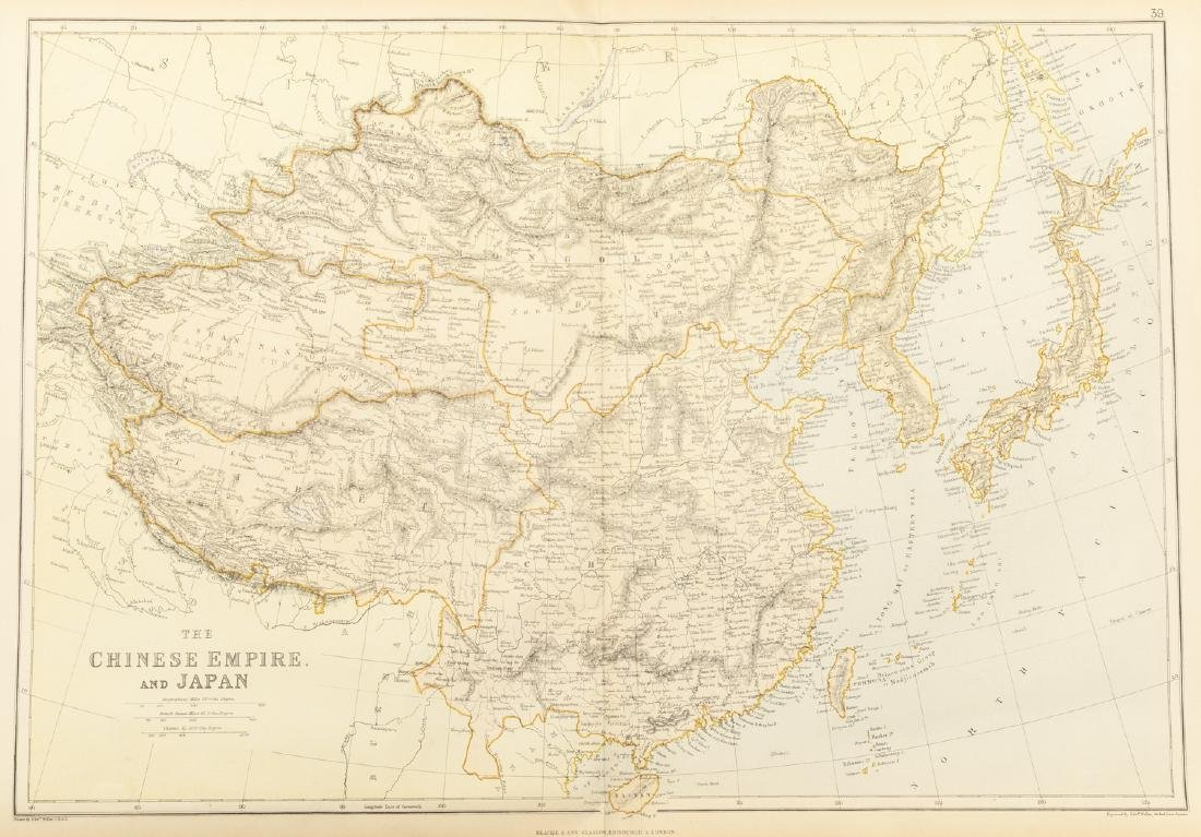 Group 1840-1870 Antique China&Russia Maps - 2