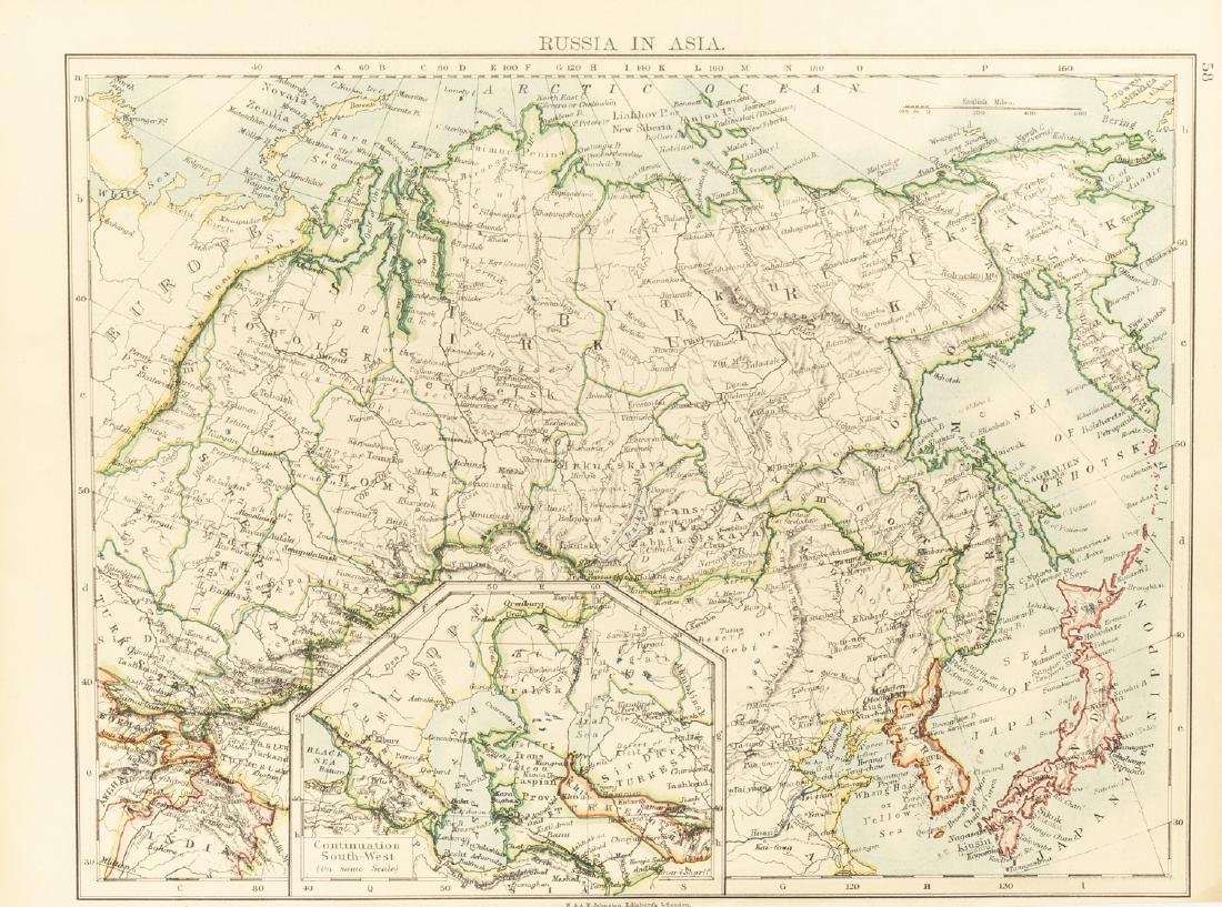 Group 1840-1870 Antique China&Russia Maps - 6