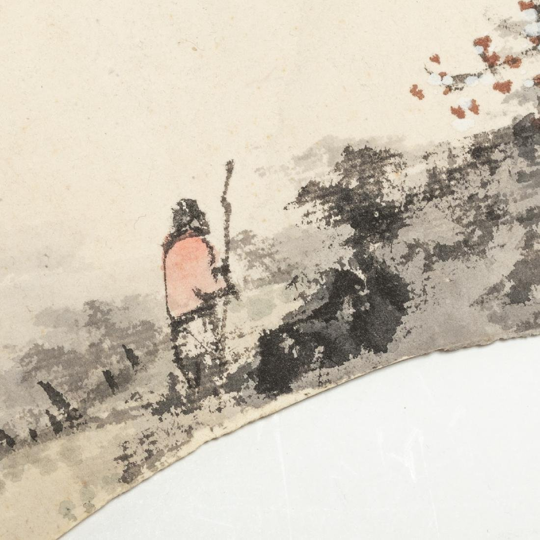 Vintage Chinese Fan Painting - 5