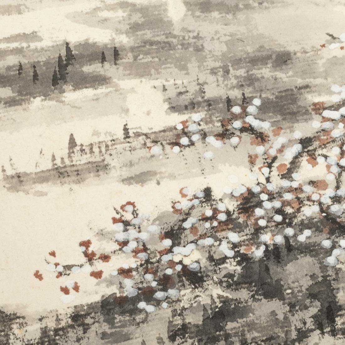Vintage Chinese Fan Painting - 8