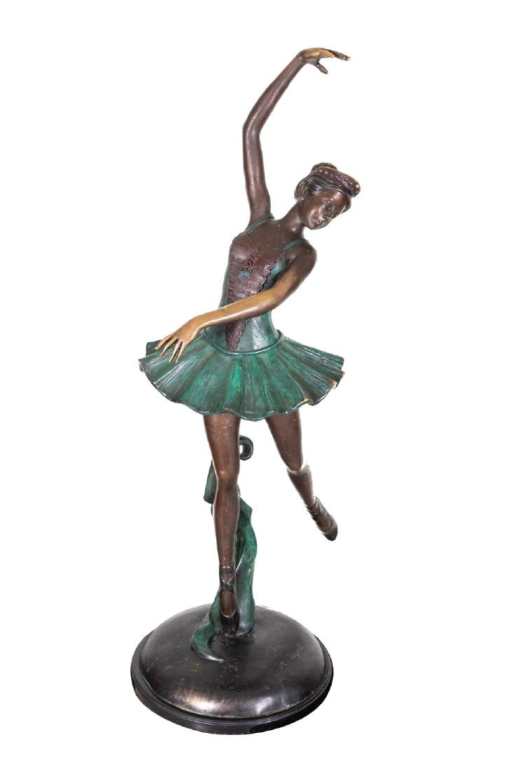 Signed Vintage Bronze Ballerina Sculpture
