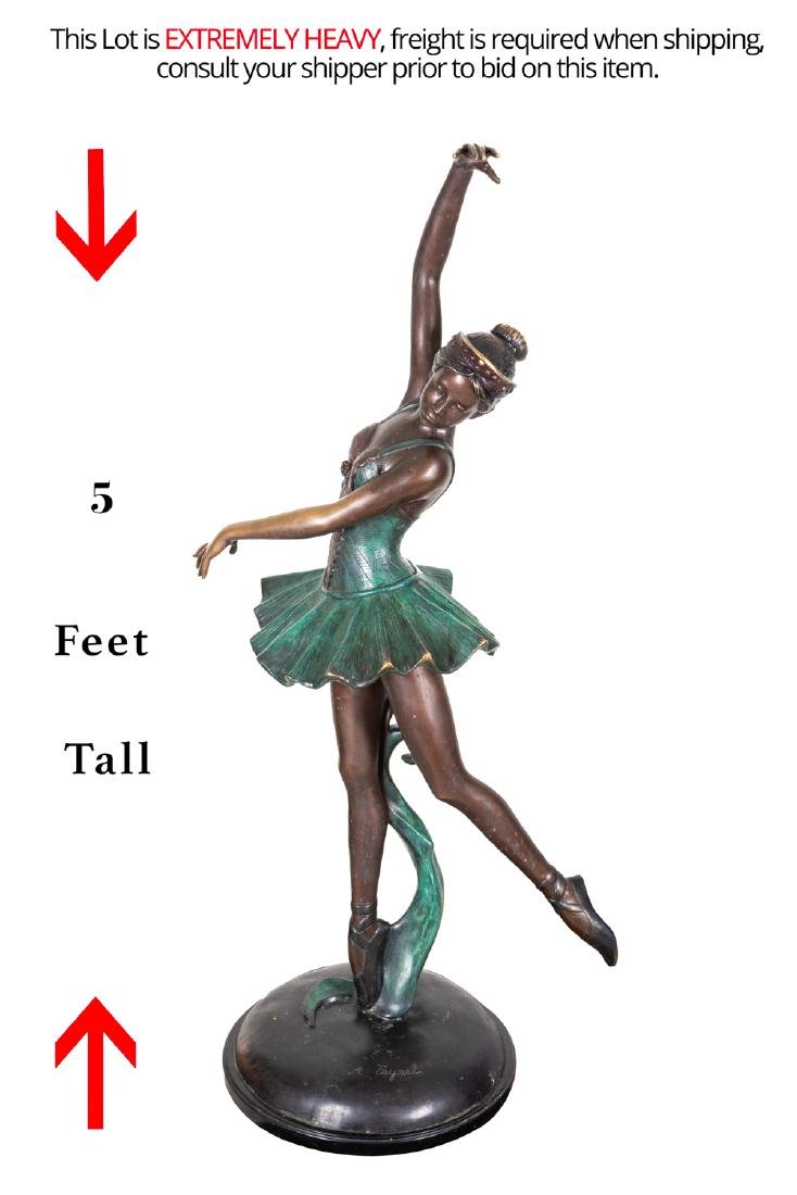 Signed Vintage Bronze Ballerina Sculpture - 2