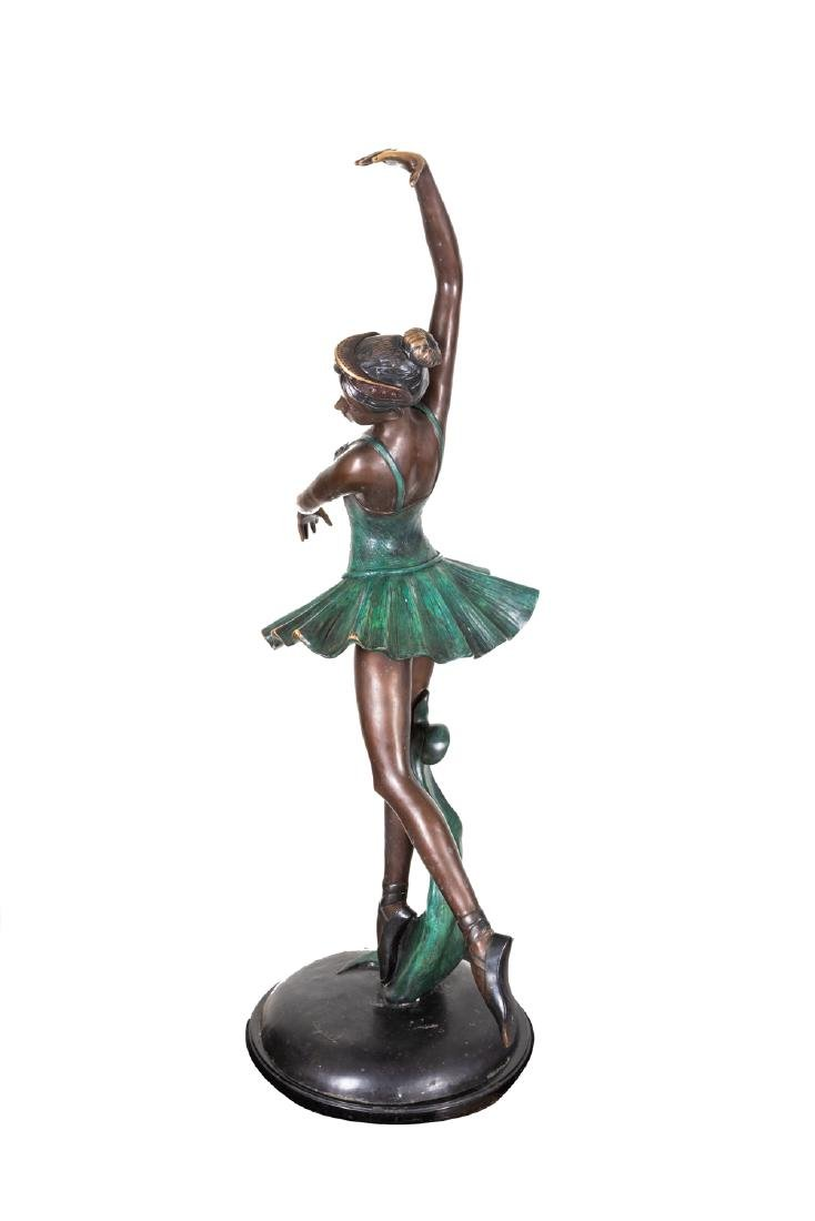 Signed Vintage Bronze Ballerina Sculpture - 3