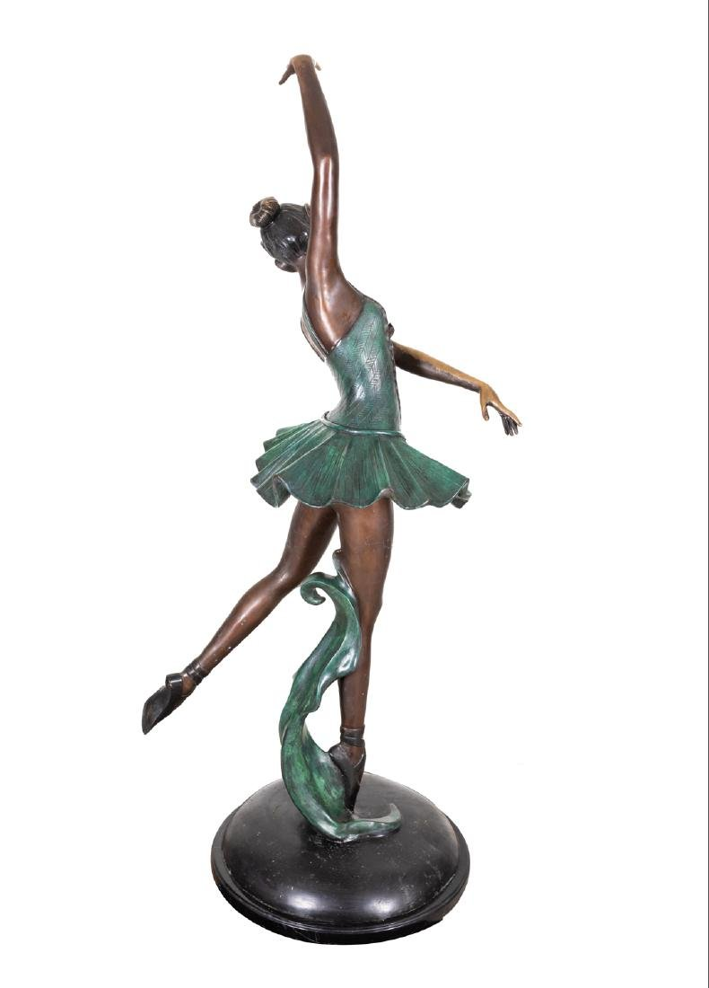 Signed Vintage Bronze Ballerina Sculpture - 4