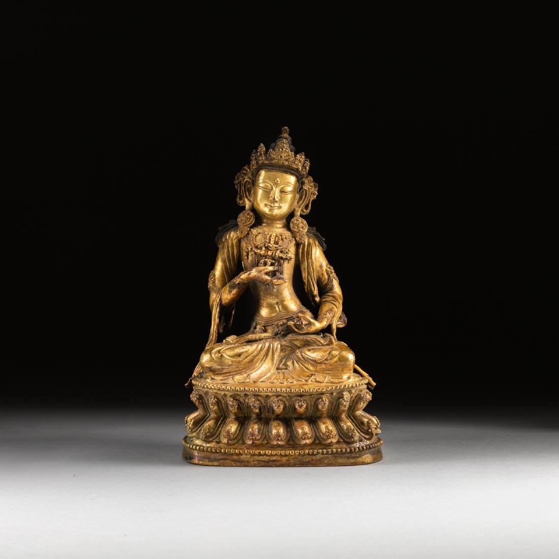 Ming Or Later Antique Gilt Bronze Buddha