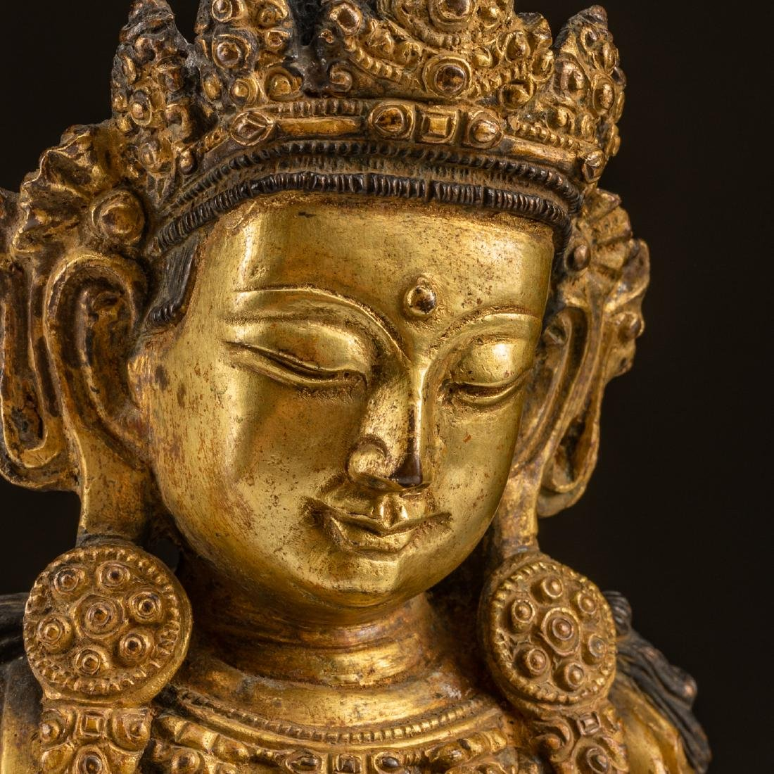 Ming Or Later Antique Gilt Bronze Buddha - 6