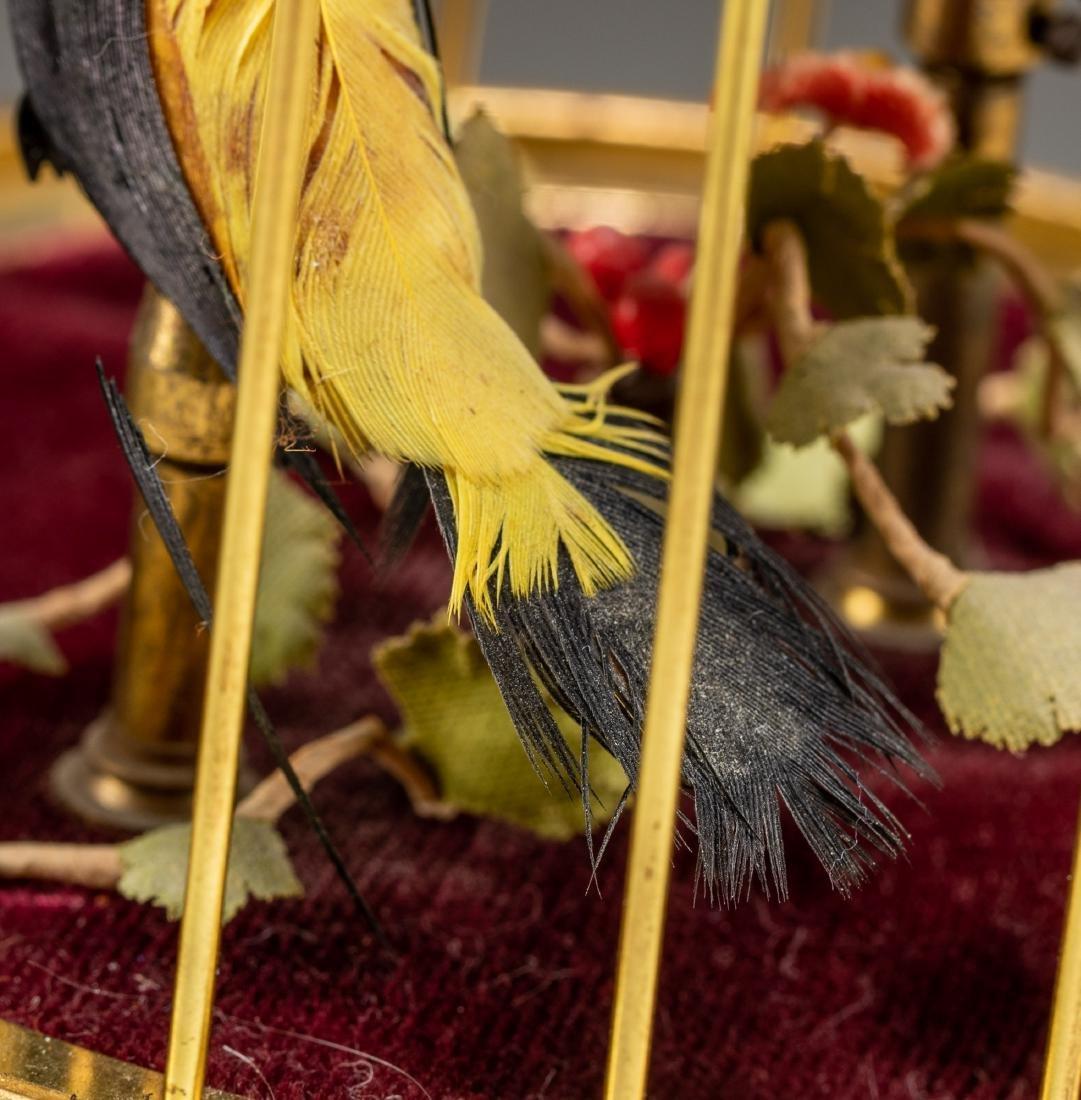 Vintage Linden Brass Birdcage Double Birds Automaton - 7