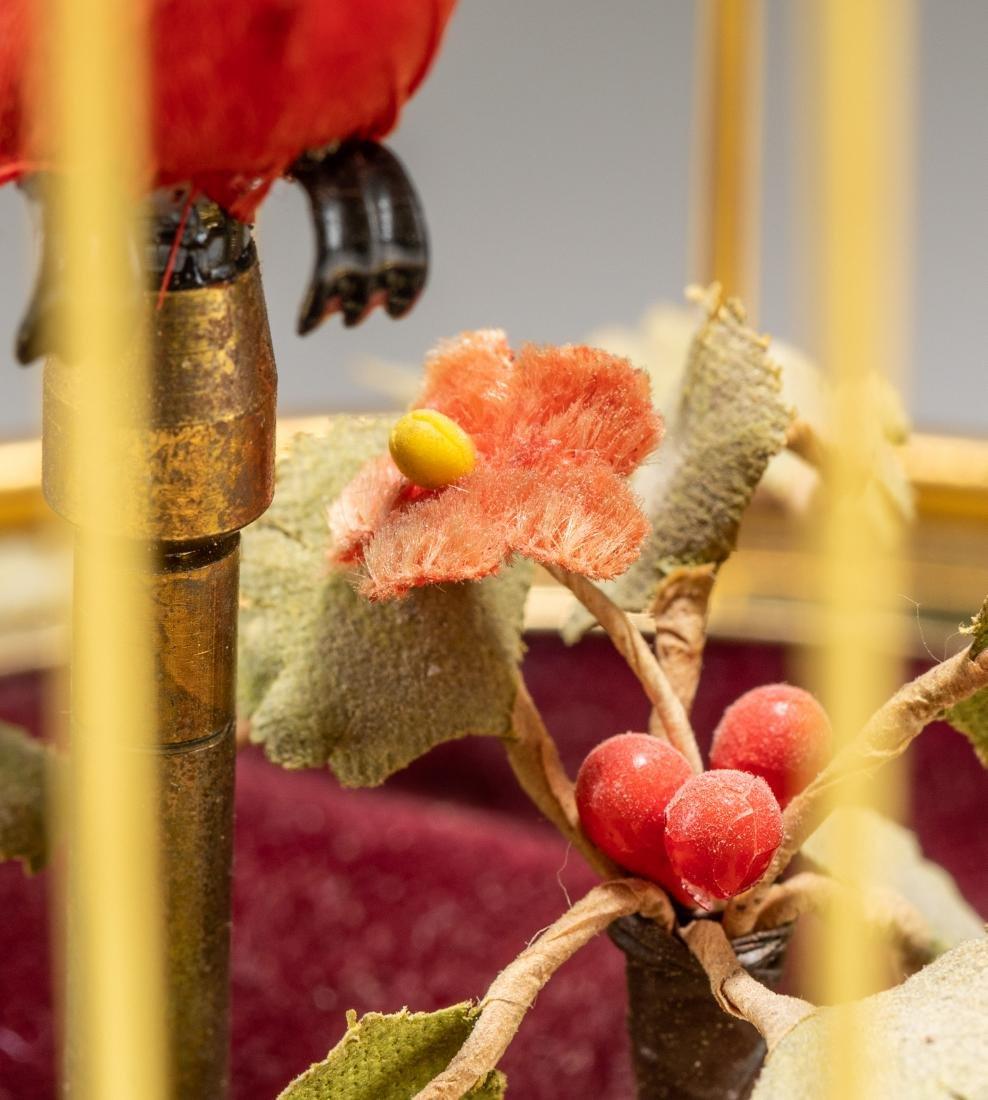 Vintage Linden Brass Birdcage Double Birds Automaton - 9