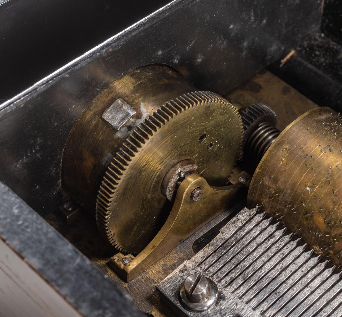 Swiss Vintage Cylinder Mechanical Music Box - 5
