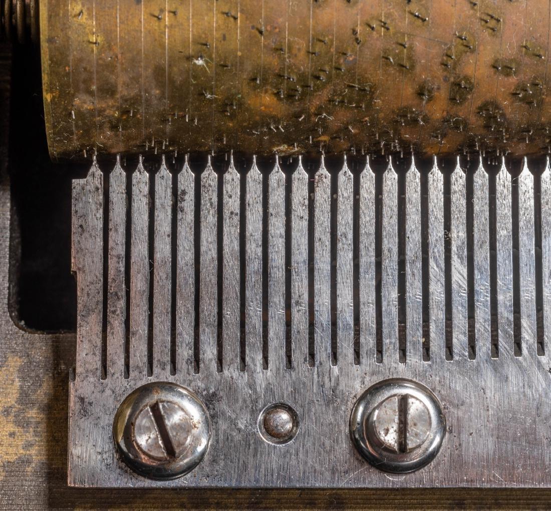 Swiss Vintage Cylinder Mechanical Music Box - 8