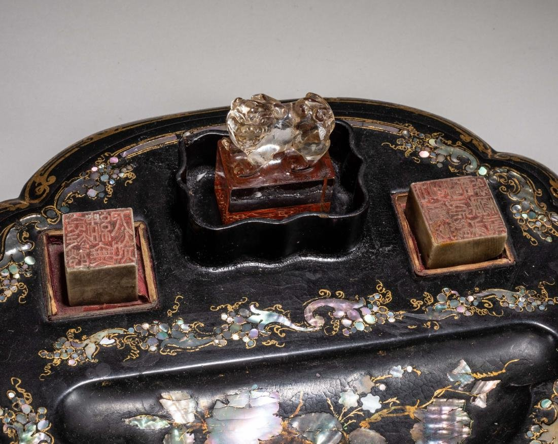 19th Kuangxu Period Chinese Antique Lacquer Stationery - 3