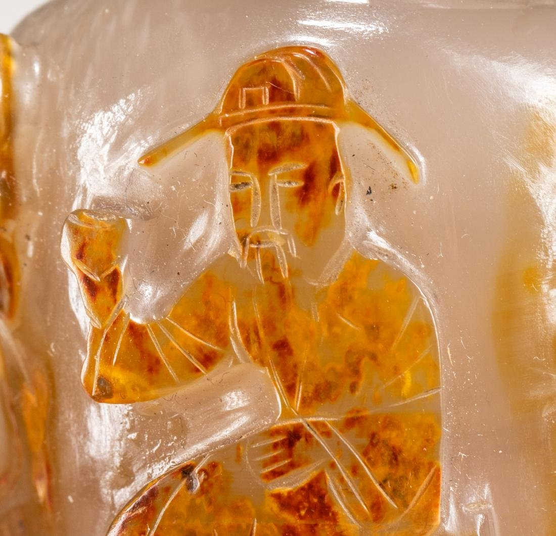 19th Chinese Antique Agate Snuff Bottle - 6