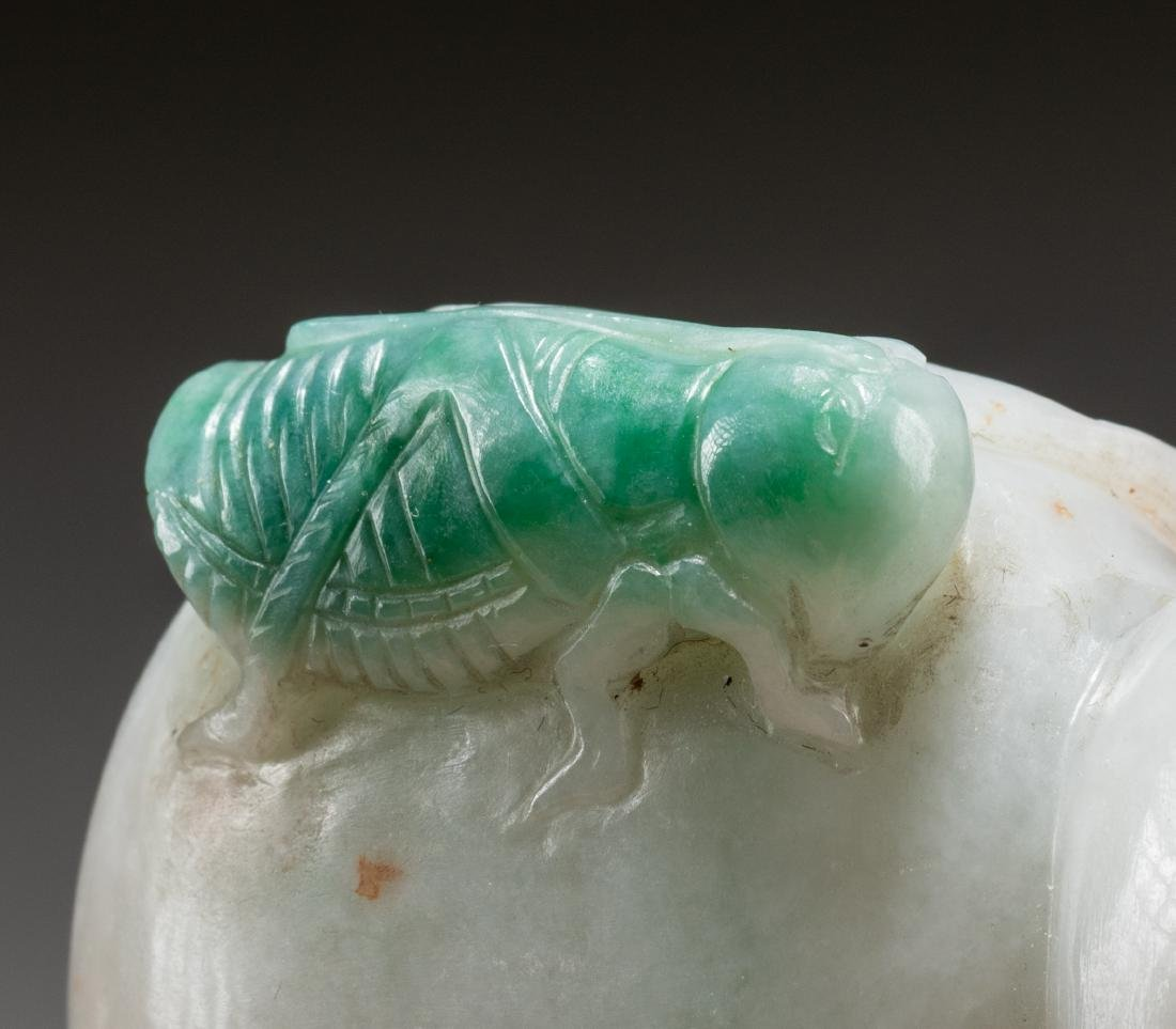 18-19th Chinese Antique Jadeite Snuff Bottle - 6