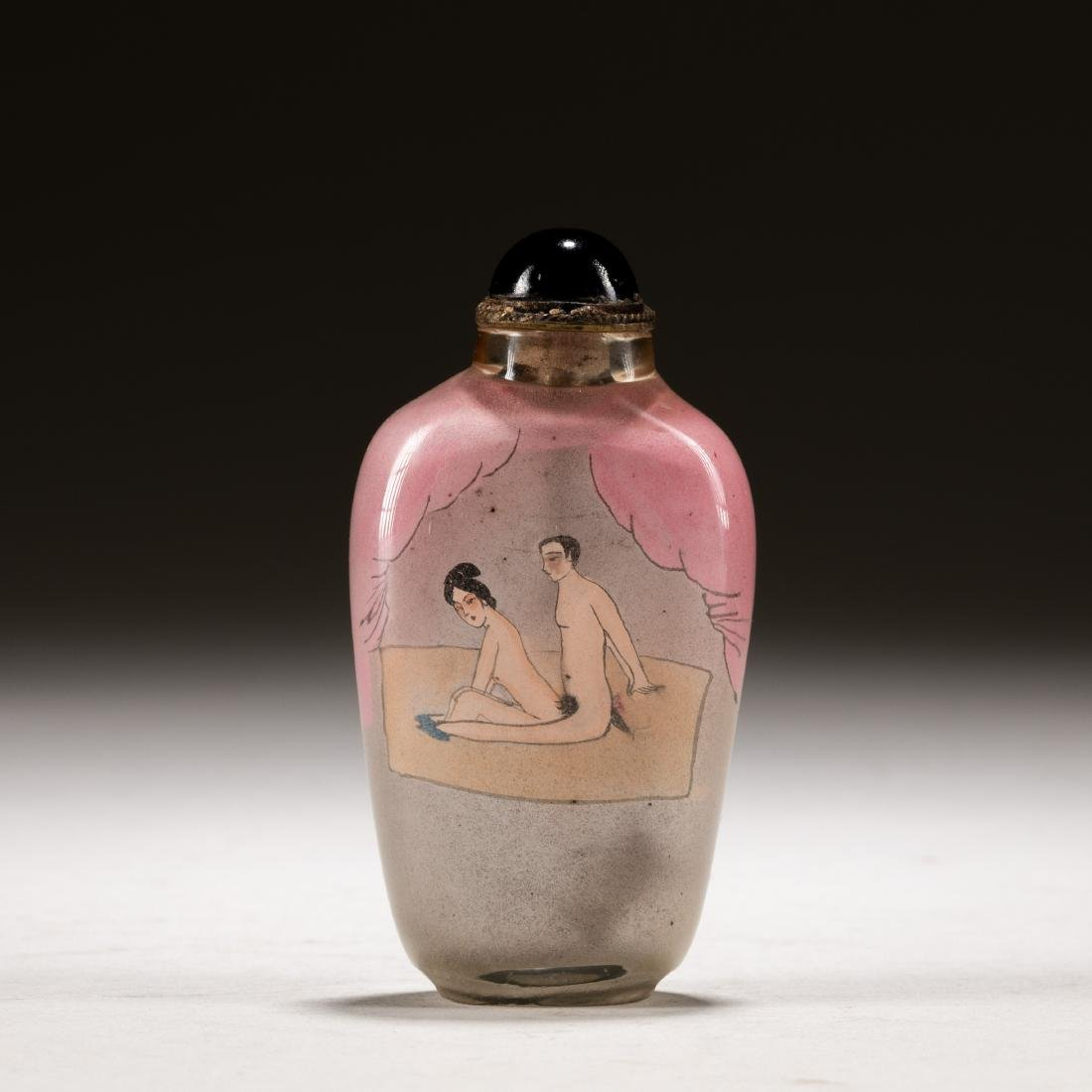 Late 19th Chinese Antique Inside Painting Snuff Bottle