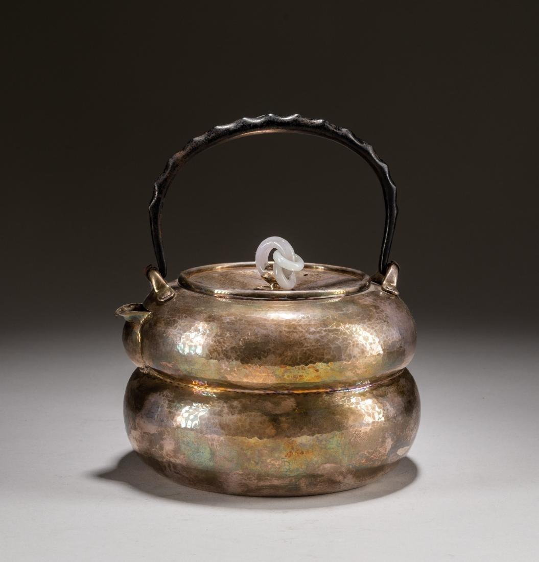 Japanese Antique Silver Teapot