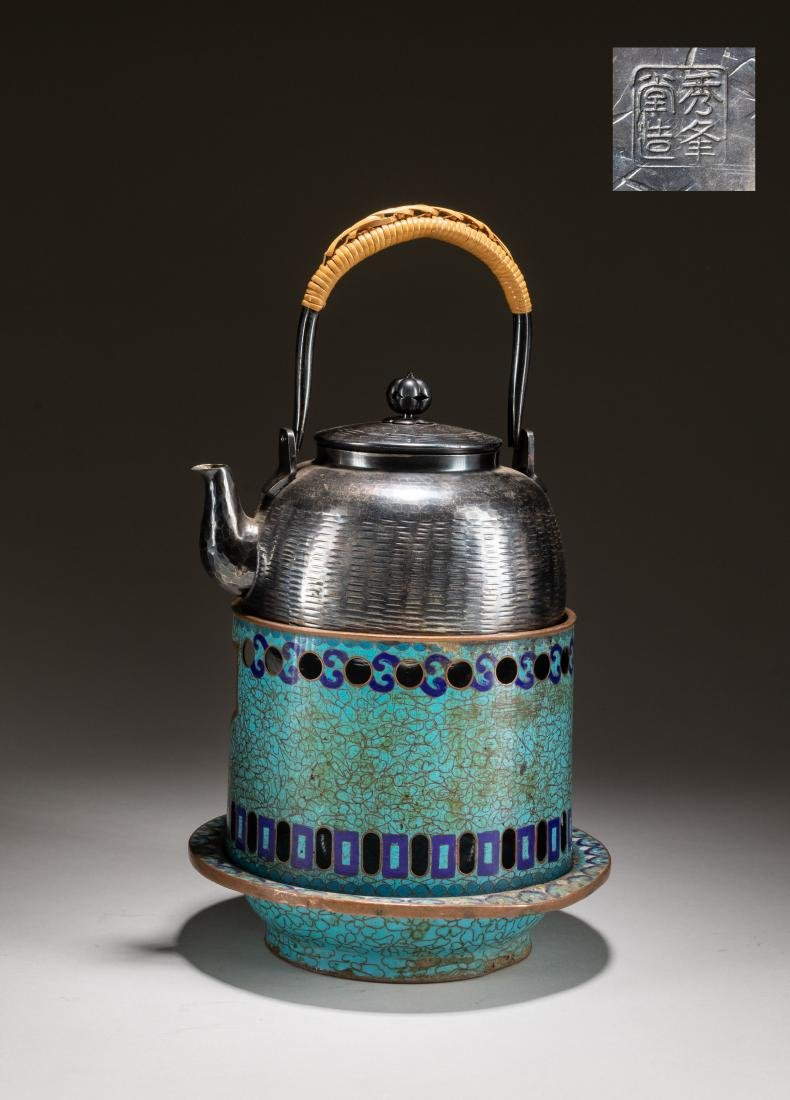 19th Japanese Antique Silver Teapot