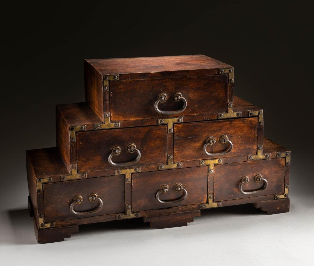 19th Japanese Antique Rosewood Cabinet