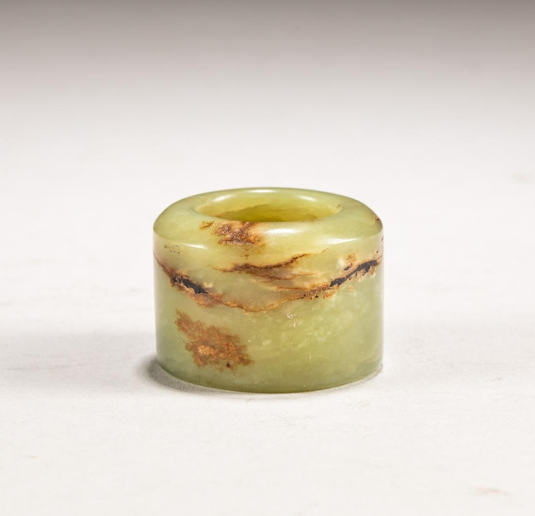 Chinese Antique Yellow Jade Thumb Ring