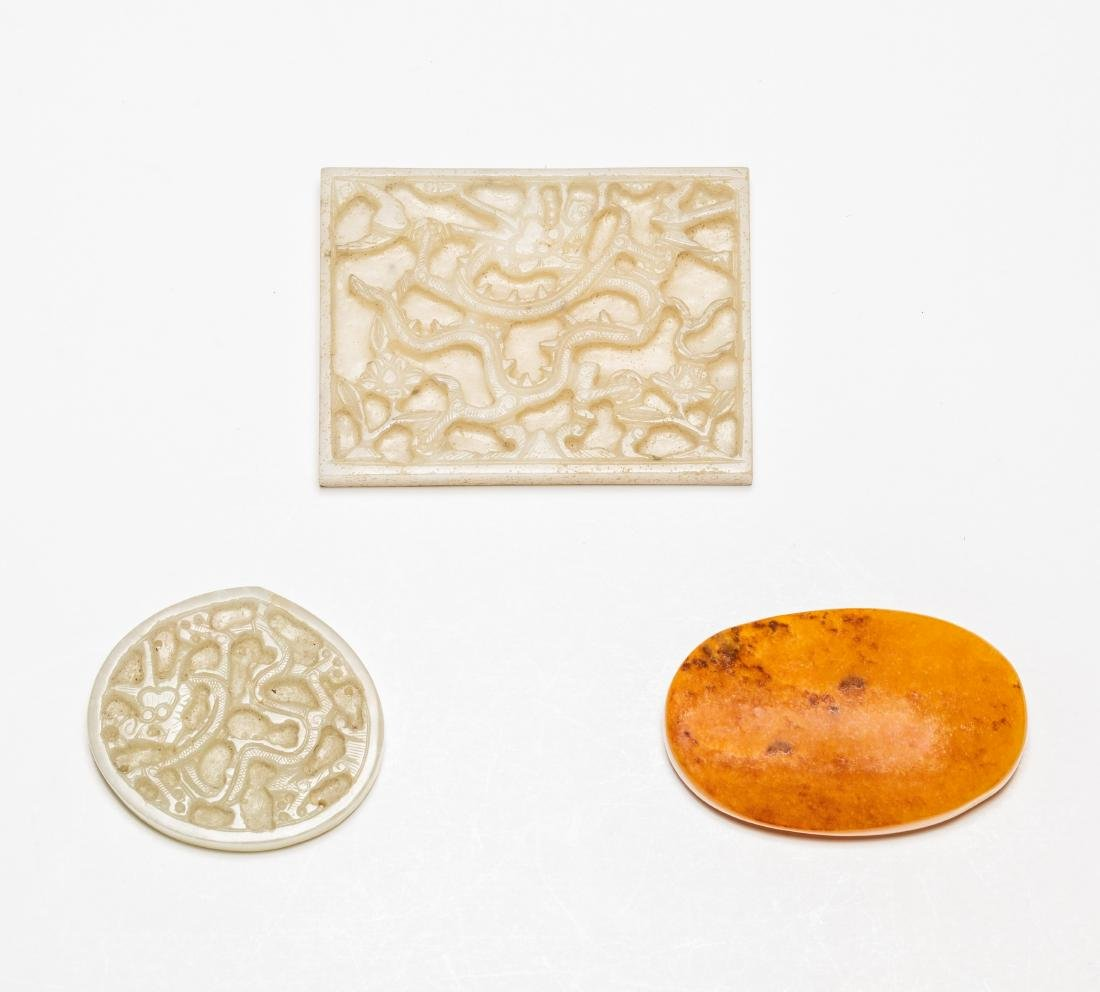 Group Ming Chinese Antique Jade Belt Buckles