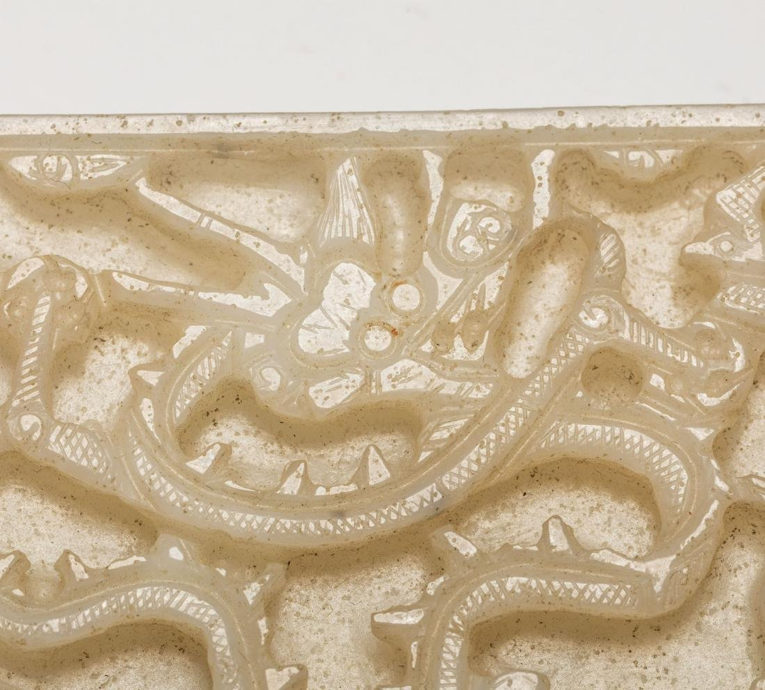 Group Ming Chinese Antique Jade Belt Buckles - 4