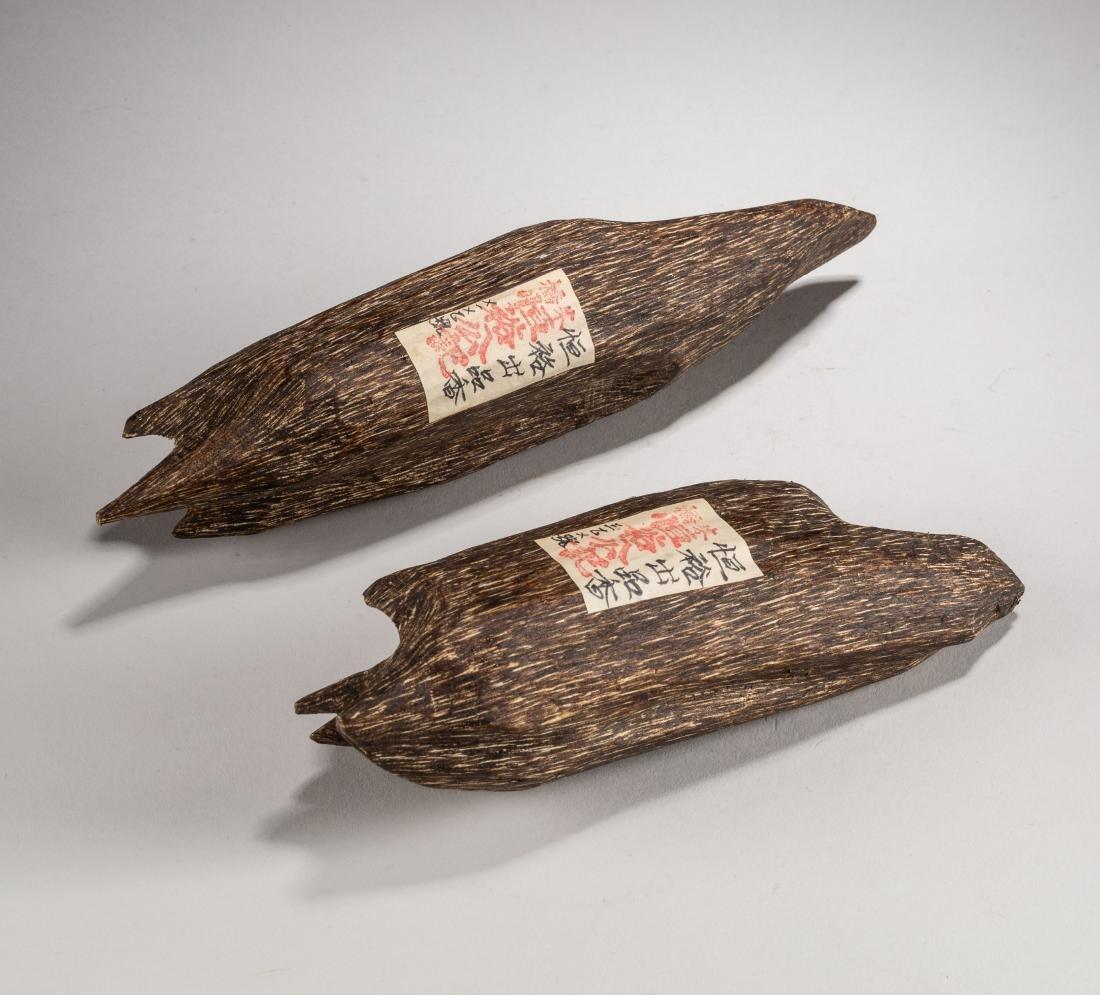 Set Of Chinese Antique/Vintage Agarwood Pendants