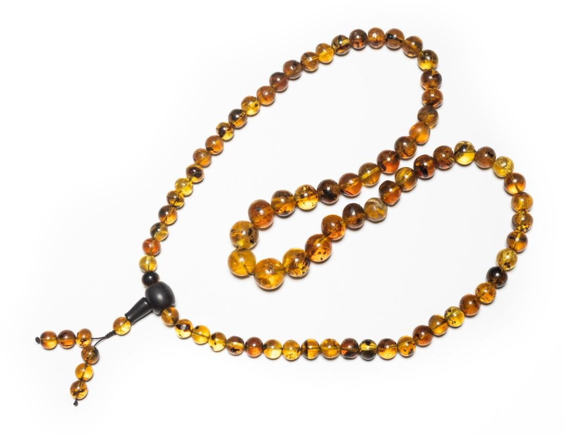 Chinese Vintage Natural Amber Necklace