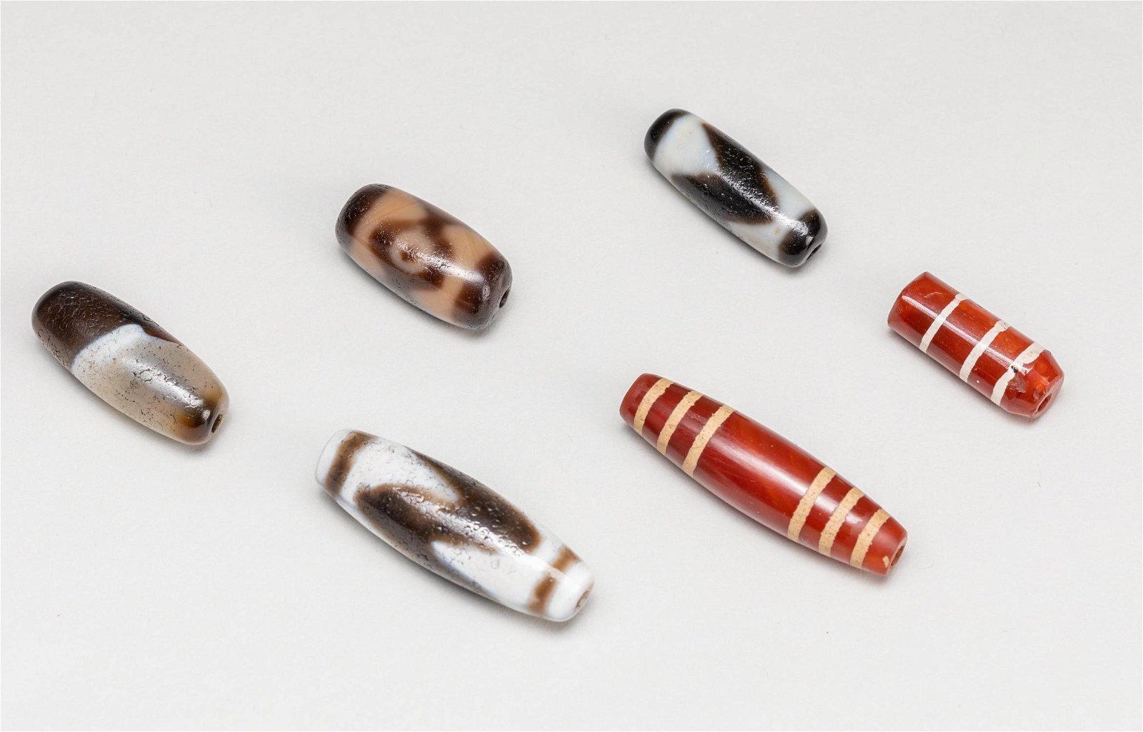 Set Of Tibetan Antique Dzi Beads