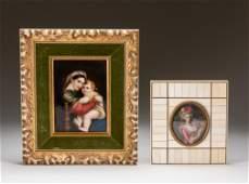 Set Of Old Enamel Picture Frames