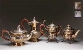 Set Hollowware Silver Plate Tea Set