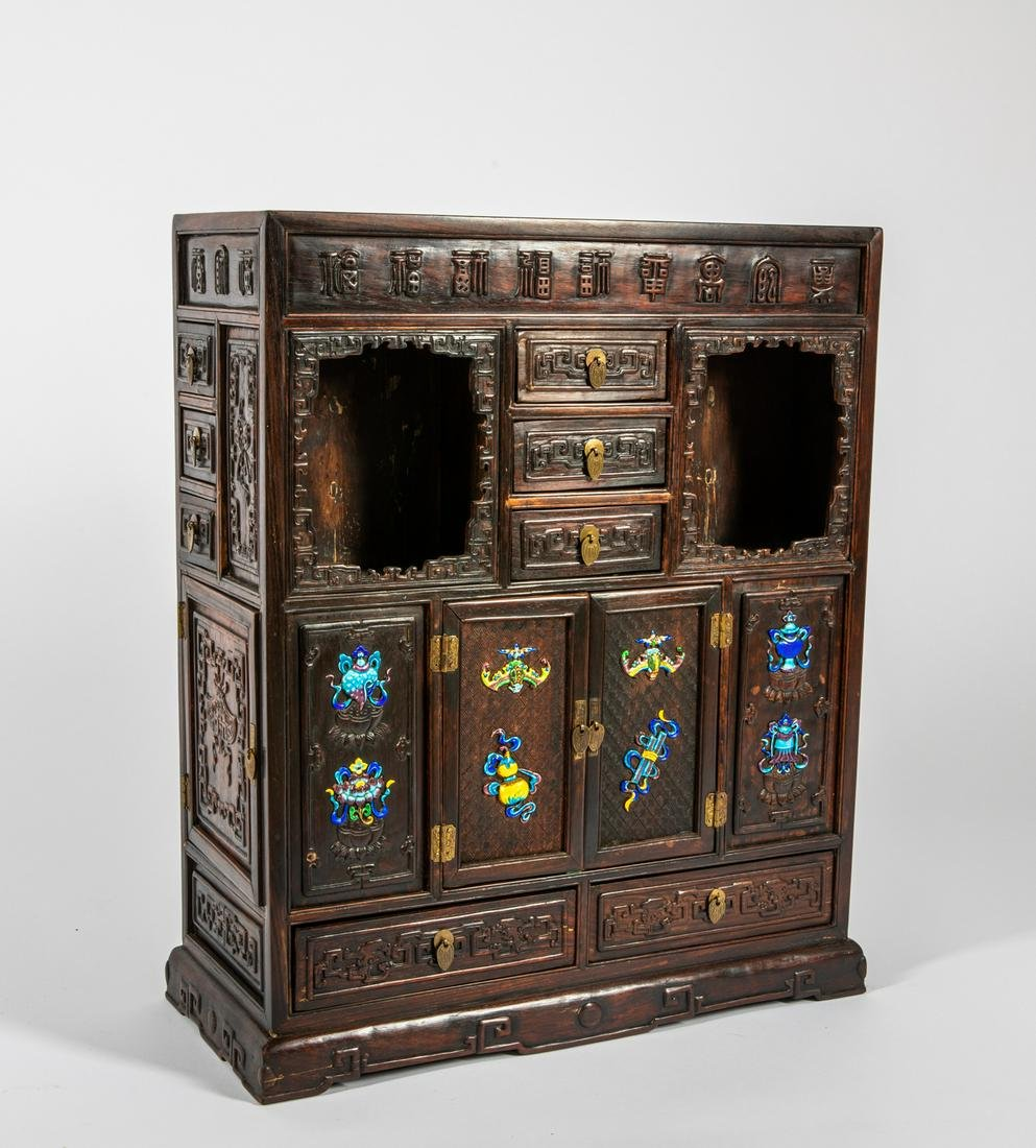 Chinese Antique Rosewood Cabinet