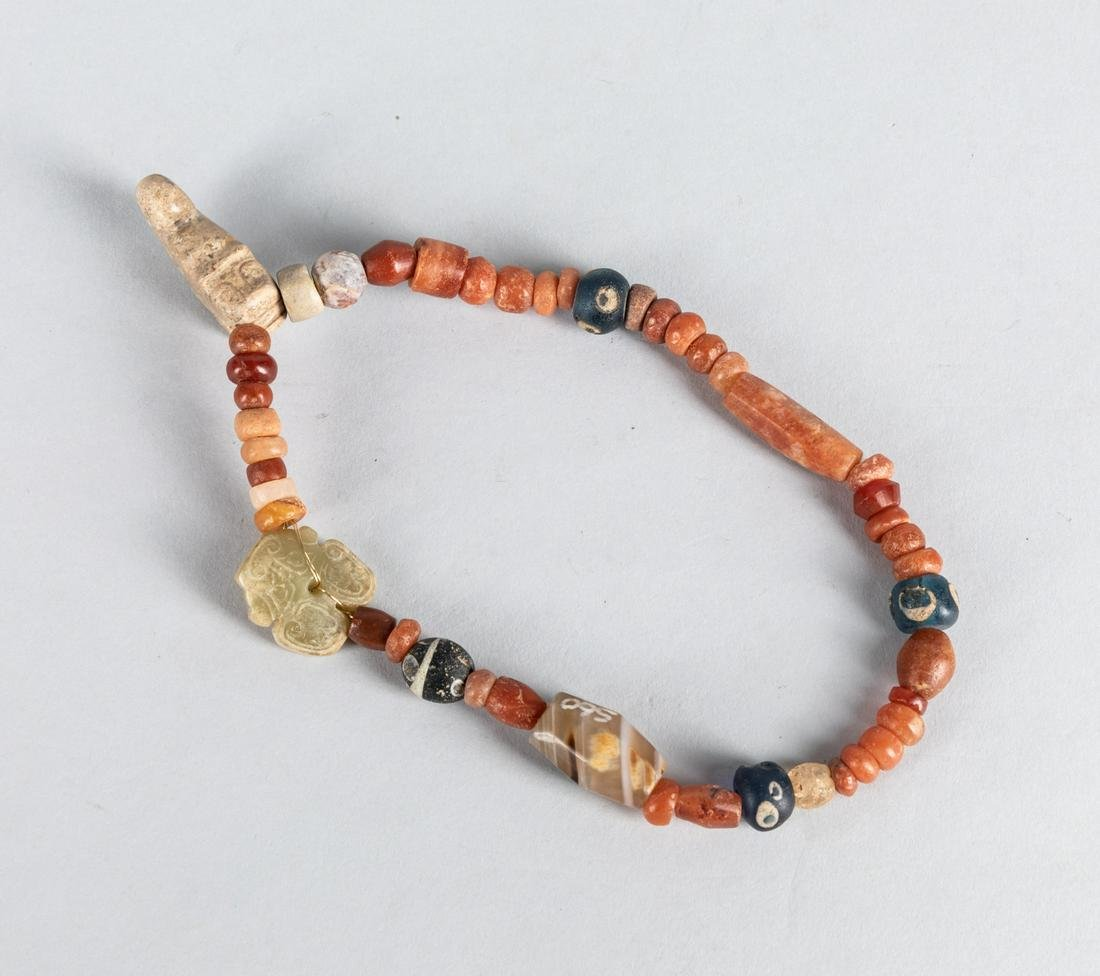 Chinese Antique Agate & Jade Beads