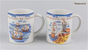 Pairs of Vintage Tiffany & Co Portugal Mugs Cup