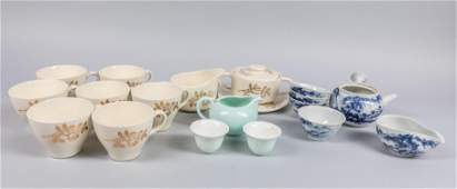 Set Of Japanese Porcelain Tea Wares