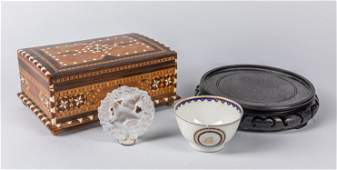 Group of Chinese Wood  Porcelain