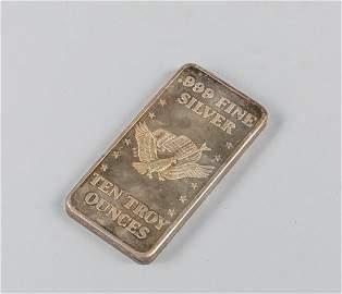 10 Troy Oz. Fine Silver Bar