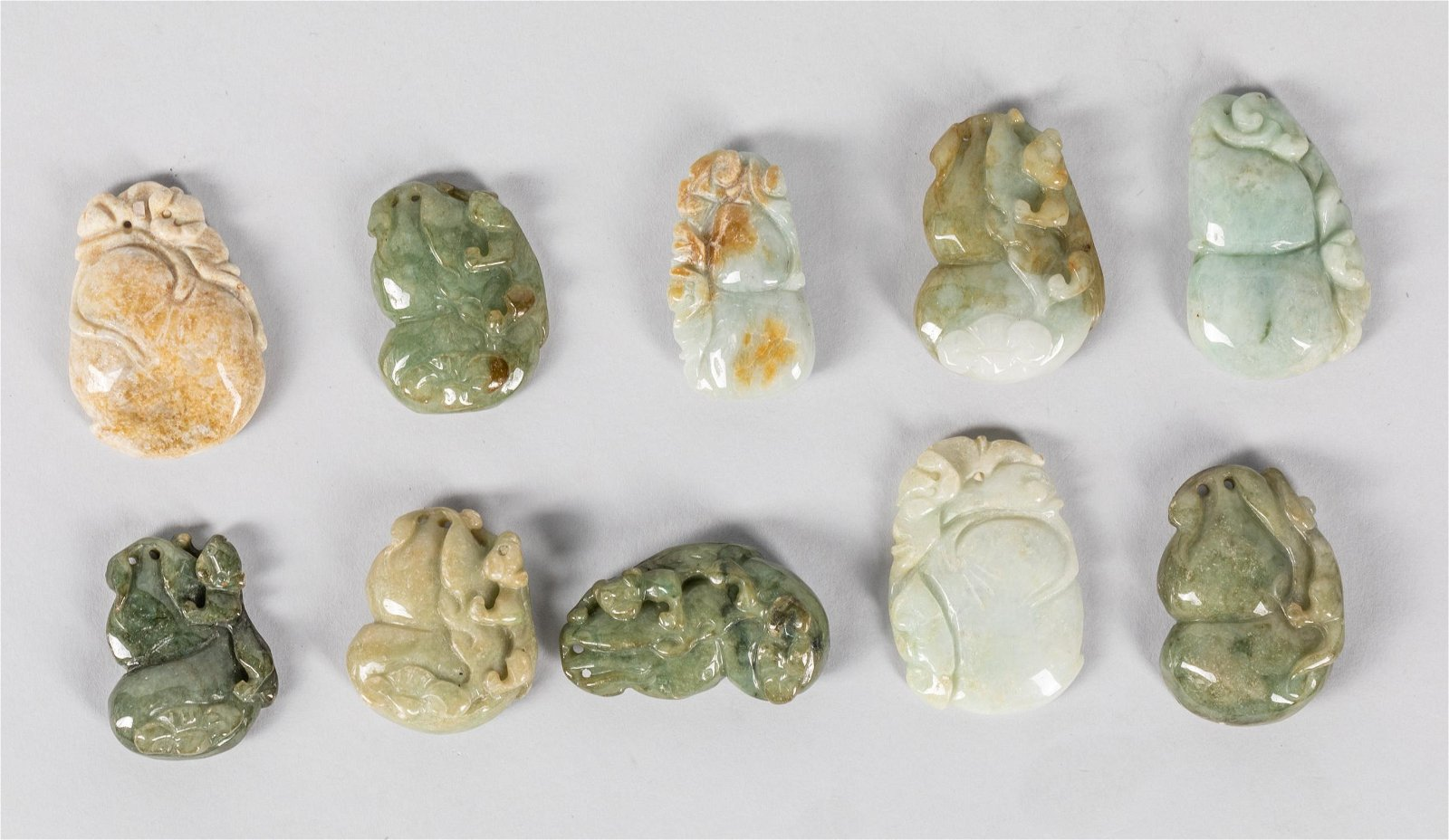 Group Of Chinese Carved Jade