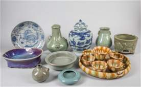 Group of Repaired Chinese Porcelain Wares