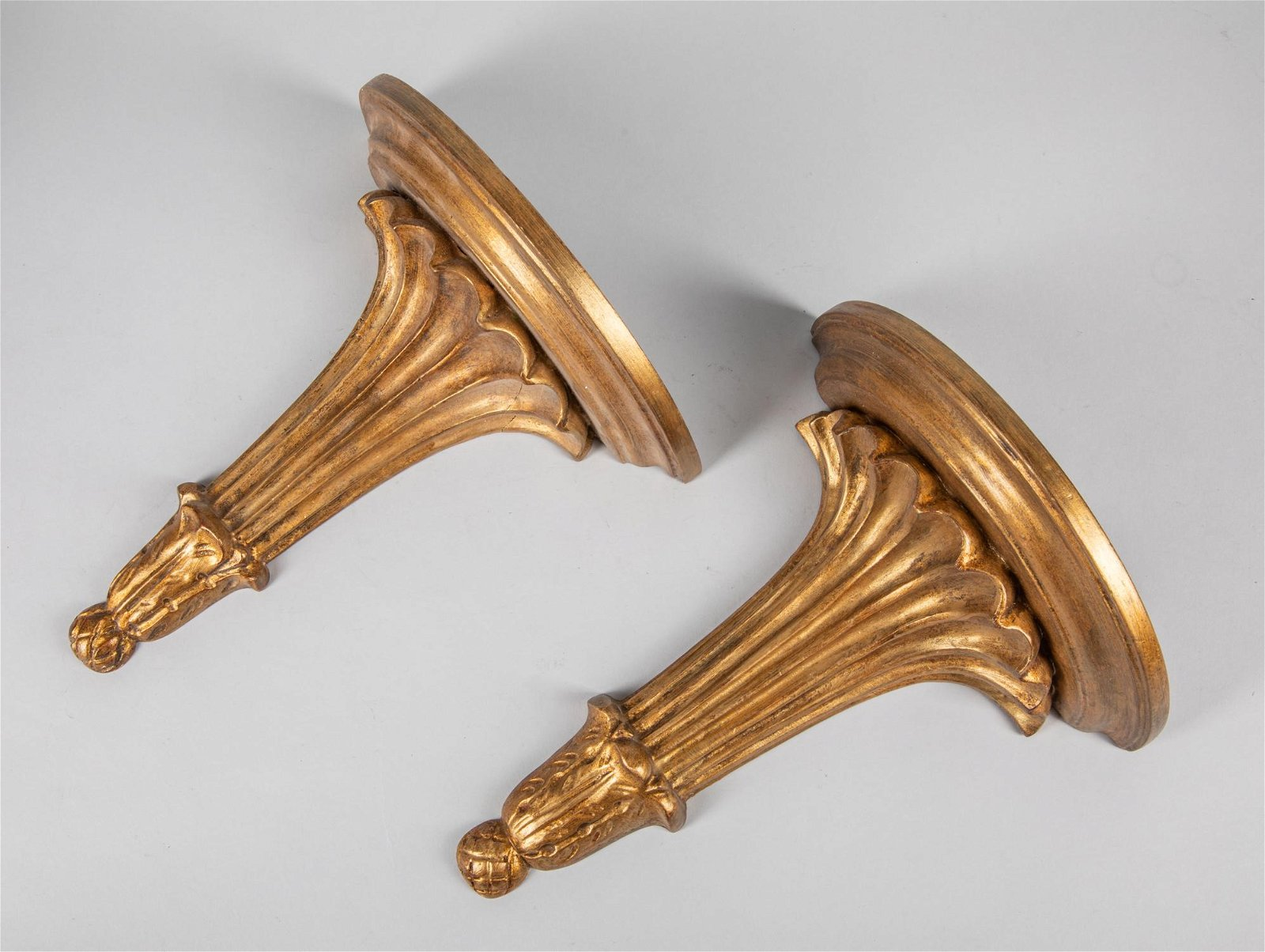 Gorgeous Italy Gold Gilt Wood Wall Hanging Shelf