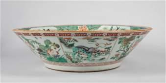 Large Chinese Antique Wucai Porcelain Bowl