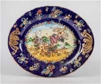 Large France Type Enameled Porcelain Tray