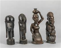 Group of African Art Wood Figures
