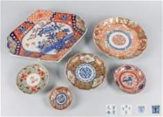 Set Japanese Large Gold Imari Porcelain Plates