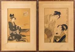 Set of Japanese Woodblock Print