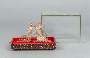 Chinese Export Silver Figure with Case